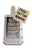 picture of shredded cheese  - Free cheese grater tattoo remover for the brave - JPG