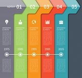 picture of step-up  - Modern minimal timeline arrow infographics elements - JPG