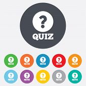 image of quiz  - Quiz with question mark sign icon - JPG