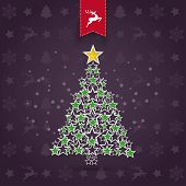 pic of x-files  - Christmas greeting card design with dark background - JPG