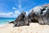 image of virgin  - Stunning beach with white sand - JPG