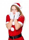 image of pouting  - Xmas girl pout lip - JPG