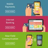 stock photo of electronic banking  - Internet banking - JPG