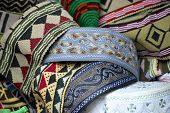 picture of headdress  - Traditional Yemeni men headdress at the market of Sana - JPG