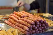 pic of grilled sausage  - horizontal angle of close - JPG