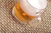 foto of guinness  - Glass of fresh beer with cap of foam - JPG