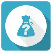 picture of riddles  - riddle blue flat icon   - JPG