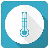 image of temperature  - thermometer blue flat icon temperature sign  - JPG