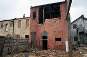 image of illinois  - An abandoned ruined building in Joliet - JPG