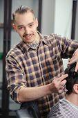 stock photo of barber  - Stylish barber - JPG