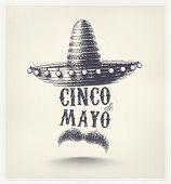 stock photo of placard  - Cinco De Mayo - JPG