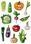 Постер, плакат: Cheerful cartoon various vegetables characters