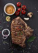 foto of t-bone steak  - Beef t - JPG