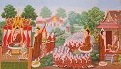stock photo of mural  - Thai Art - JPG