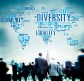 image of racial diversity  - Diversity Community Population Business People Concept - JPG