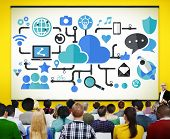 picture of social system  - Social Media Social Networking Technology Connection Concept - JPG