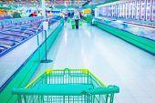 image of supermarket  - Interior of supermarket - JPG