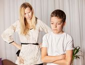 image of disobedient  - Mom swears by son - JPG