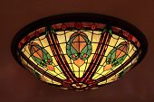 picture of lamp shade  - The tiffany style lamp with multicolor glass  - JPG
