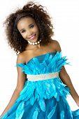 stock photo of mood  - Beautiful African Female Model in Playful Mood - JPG