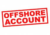 pic of offshore  - OFFSHORE ACCOUNT red Rubber Stamp over a white background - JPG