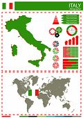 image of nationalism  - vector Italy illustration country nation national culture - JPG