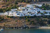 foto of greek-island  - Lindos village on the Greek Island of Rhodes - JPG