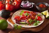 pic of kidney beans  - vegan taco with vegetable - JPG
