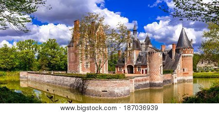 Romantic castles of Loire valley