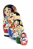 picture of arts crafts  -    Russian nested dolls family  - JPG