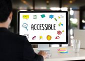 Accessible Welcome Greeting Welcoming Approachable Access Enter Available Concept poster