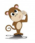 picture of dorky  - illustration of a dorky monkey - JPG