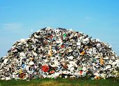 picture of waste disposal  - Pile of metallic waste on a recycle site - JPG