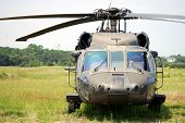 KILL DEVIL HILLS, NC - AUG 5:  Sikorsky UH-60 Black Hawk helicopter. Based at Fort Bragg, the helico