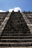 Stairway to heaven - stairway to the top of the Kukulkan pyramid (Castillo) in Chichen Itza, in Mexi