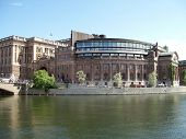 stock photo of caucus  - an image of the swedish parliamentary buildings in the capital of stockholm
