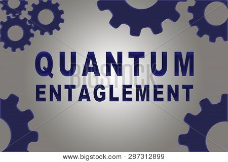 Quantum Entaglement Sign Concept Illustration