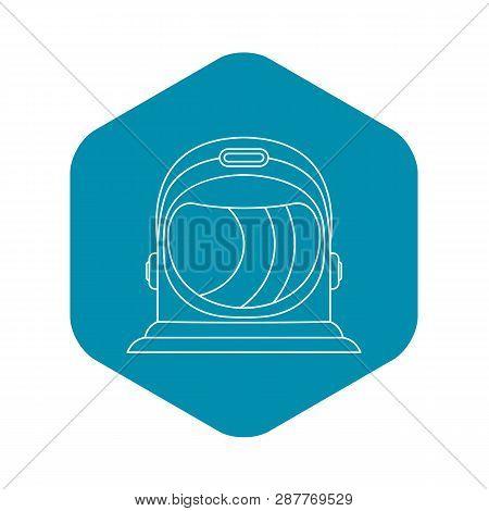 Astronaut Helmet Icon Outline Illustration
