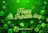 Poster For Irish Holiday St Patricks Day With Calligraphy Text. Advertising Banner Template With Let poster