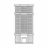 Vector Illustration Of Skyscraper And House Sign. Collection Of Skyscraper And Urban  Vector Icon Fo poster