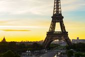 Eiffel Tower Close Up From Trocadero At Sunrise, Paris, France poster