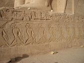 foto of aswan dam  - Hieroglyphics on the exterior of Abu Simbel Temple Egypt - JPG