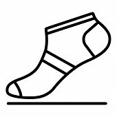 Summer Sock Icon. Outline Summer Sock Icon For Web Design Isolated On White Background poster
