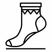 Xmas Sock Icon. Outline Xmas Sock Icon For Web Design Isolated On White Background poster