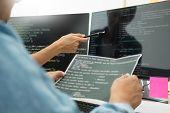 Programmer Outsource Developer Team Coding Technologies Website Design. Mobile Application Software, poster