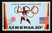 LIBERIA - CIRCA 1972: stamp printed by Liberia, shows Olympic Games in Munchen, circa 1972