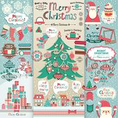 foto of illustration  - Christmas scrapbook elements - JPG
