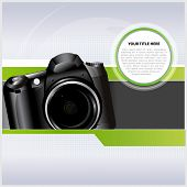 Abstract vector background with digital camera for text