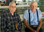 pic of senior-citizen  - This is a photo of my father and uncle at our family reunion - JPG