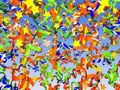 foto of reveillon  - Colorful confetti background holiday 3D rendering illustration - JPG